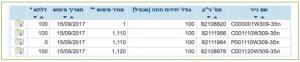 טבלת אופציות המעוף כפי שמופיע באתר הבורסה