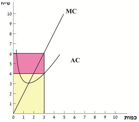 הצגה גרפית של הרווח ומרכיביו