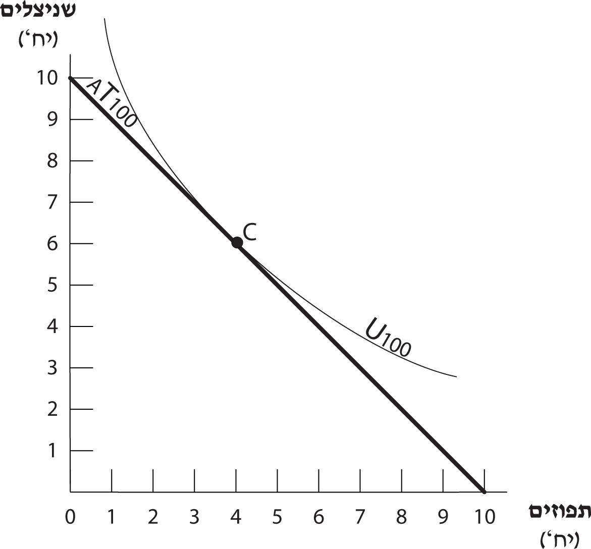 תרשים 4.6 – המצב לפני ההוזלה