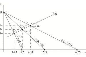 תוואי עקומת הביקוש המתקבלת מפונקציית קוב דגלאס