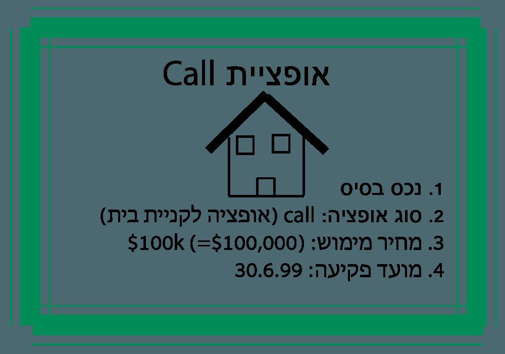 כתיבת אופציית CALL